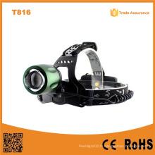 T816 High Power LED Headlamp Zoom réglable Focus Camping LED phare