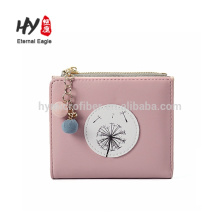 Custom color low price mini leather wallet wholesale