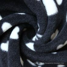 Couvertures de molleton bon marché de tissu d'ouatine de polyester de 100% en vrac