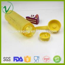 Botella de plástico de reciclaje de cilindros de alimentos de PCTG para beber