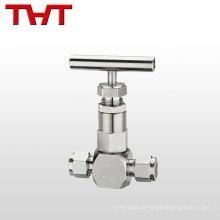 Válvula de agulha de extremidade de flange motorizada de qualidade superior