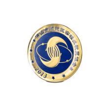 Broche d'impression décalée, badge carré avec logo (GZHY-YS-020)