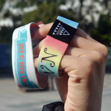 Wholesale Custom Logo/Design Promotional Fabric Bracelets & Wristbands