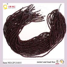 4-5mm dunkel rote Kartoffel Form kultivierte Perlen String verlieren Süßwasser Perlen Strang
