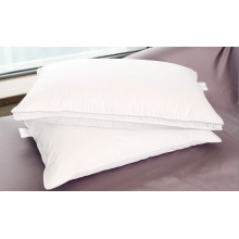 Goose Feather Down Pillow, Fabric: 100% Cotton, 233tc, Bleach, Filling: Goose Feather, Making: Double Stitch, Self Piping