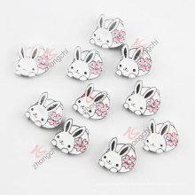Alloy Enamel Metal Rabbit Charms (JP08)
