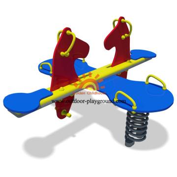 Ressorts animaux en plastique d'équipement de terrain de jeu pour la maternelle
