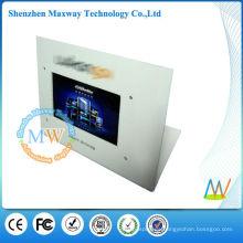 pantalla del contador con el reproductor de publicidad lcd de 7 pulgadas