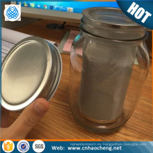 Tubo de filtro de café frío de malla de acero jarra de mason de precio de fábrica