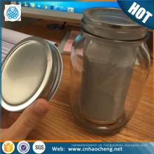 Preço de fábrica mason jar aço malha tubo de filtro de café frio