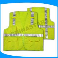 Chalecos reflectantes, chaleco de seguridad de China, chaleco reflectante de advertencia de la carretera