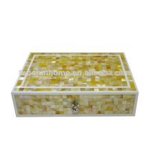 GM-ABX Hotel Amenity Zigzag Boîte d'accessoires Golden Mother of Pearl