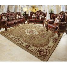 Flower Design Wool Carpet Rug Mat Use Home