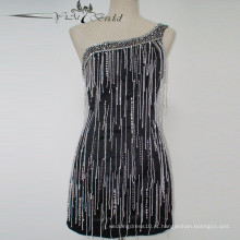 2016 Vestido Beading Pesado Mini vestido Sexy Vestido Backless