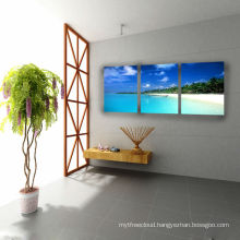 3D Seaside Images Print, Stretched Wall Panel