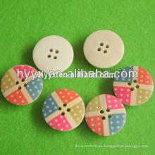Botón de madera redondo de la nueva venta caliente del diseño