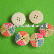 New Design Hot Sale Round Wood Button