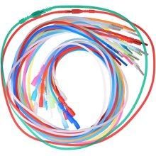 Collares de cordón de tubería de caucho de silicona con bloqueo