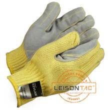 Taktische Handschuhe mit Kevlar und Kuh Lederinnenhand (schnittfest)