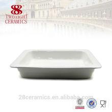 Porcelaine d'hôtel de haute qualité, plats en gros pour le buffet