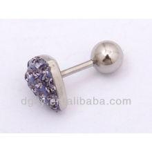 Coeur magnétique bijouterie à perles en acier inoxydable