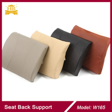 Memory Foam Imitation Leather Back Support Waist Cushion Car Accessories