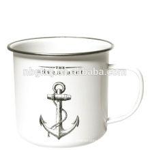 white enamelware tube milk/tea cup japan