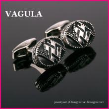 VAGULA novo esmalte Metal abotoaduras (L51420)