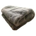Jeté et couverture en faux suède moelleux en fourrure de lapin