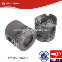 Pistón del motor original YC4D D0200-1004015A para yuchai