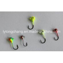 Cabeza de la plantilla de pesca de hielo de tungsteno color disponible Dia3mm y Dia4mm