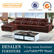 Brown New Design Top Grain Leather Sofa Furniture (9211)
