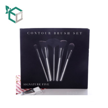 Folding Paper Cosmetic Brush Box Texture Cardboard Lid