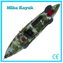 Profesionales se sientan en la parte superior Ocean Kayak Fishing Boats Plastic Canoe