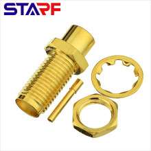 STARF SMA Straight Clamp Female connector for RG402 RG405 Cable