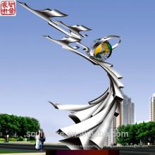 2016 Moderne Skulptur Edelstahl Sclupture Hochwertige Mode Urban Statue