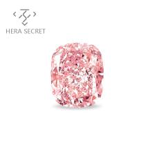 ForeverFlame fancy pink cushion cut diamond CVD CZ Moissanite
