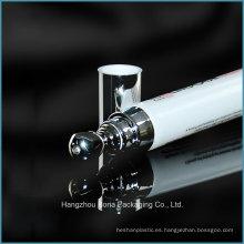 Tubo de plástico vacío de crema de ojos de 15 ml con aplicador de metal para envases cosméticos de esencia de ojos al por mayor