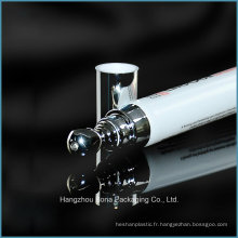 Tube en plastique vide de crème d'oeil de 15ml avec l'applicateur en métal pour l'emballage cosmétique d'essence d'oeil en gros