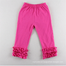 Crianças populares malha leggings ruffle bebê legging calças calças menina fina