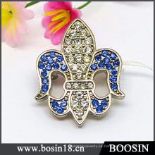 Joyería de diamantes de imitación personalizada Fleur De Lis Brooch Jewelry