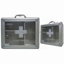 Aluminum Wall Mounted First-aid Kit with Medical Disposable Products