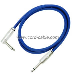 DFS Series Instrument Guitar Cable Jack to 90° Jack Blue