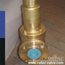 Válvula de segurança de bronze flangeada da conexão do RF / FF com capota fechada