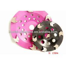 Rueda de la taza del diamante / disco de pulido con 22.23mm, M14, diámetro del centro 5 / 8-11
