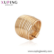 15540 Wholesale unique women jewelry cheap price 18k gold plated copper alloy alloy finger ring