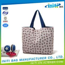 Vente en gros sac à provisions en coton en PVC pvc pliable
