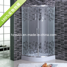 Salle de douche en verre acide simple avec certificat CE (AS-911)