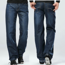 Pantalones vaqueros lavados azules flojos del basculador de los hombres de la moda