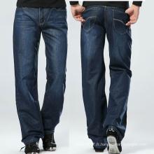 Jeans à la mode en jersey bleu délavé